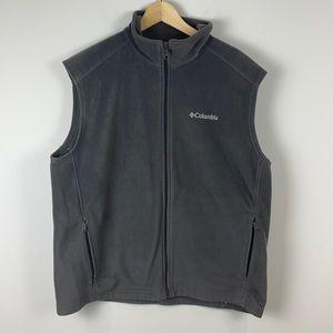 Columbia fleece zip up vest grey size Extra Large